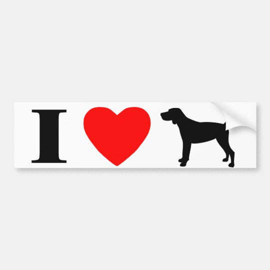 I Love Black & Tan Coonhounds Bumper Sticker