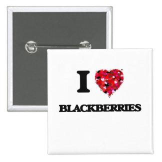 I Love Blackberries 15 Cm Square Badge