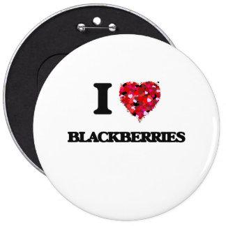 I Love Blackberries 6 Cm Round Badge