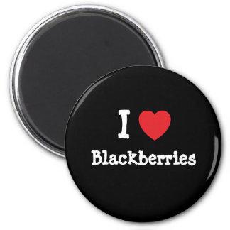 I love Blackberries heart T-Shirt Magnet