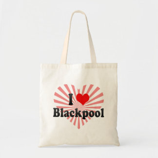 I Love Blackpool, United Kingdom Budget Tote Bag