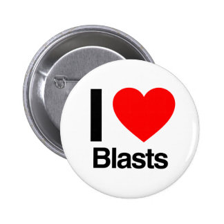 i love blasts 6 cm round badge
