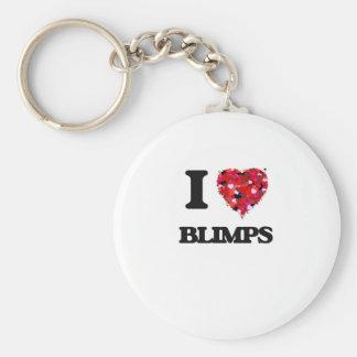 I Love Blimps Basic Round Button Key Ring