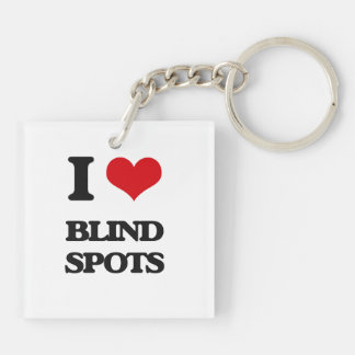 I Love Blind Spots Acrylic Keychains