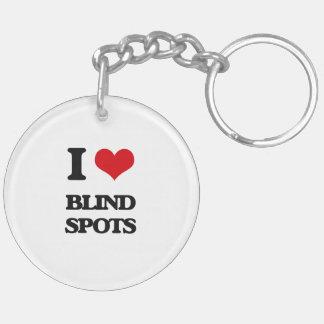 I Love Blind Spots Key Chain