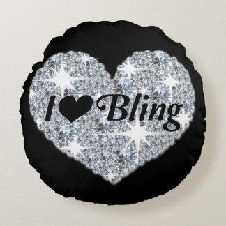 I Love Bling Round Cushion