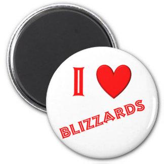I Love Blizzards 6 Cm Round Magnet