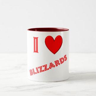 I Love Blizzards Coffee Mugs