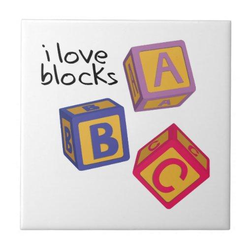 I Love Blocks Tiles