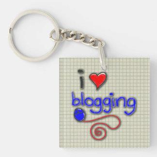 I Love Blogging Acrylic Keychains