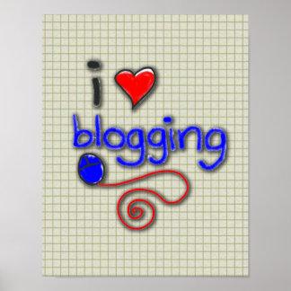 I Love Blogging Print