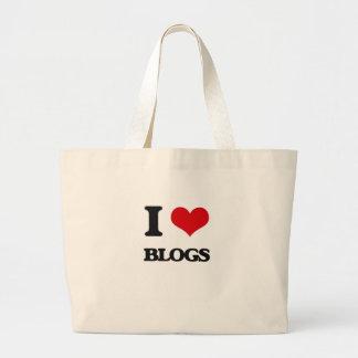 I love Blogs Jumbo Tote Bag