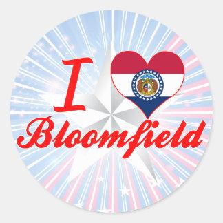 I Love Bloomfield, Missouri Round Sticker