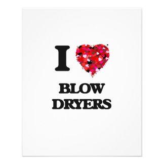 I love Blow Dryers 11.5 Cm X 14 Cm Flyer