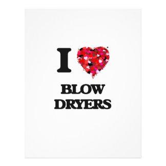 I love Blow Dryers 21.5 Cm X 28 Cm Flyer