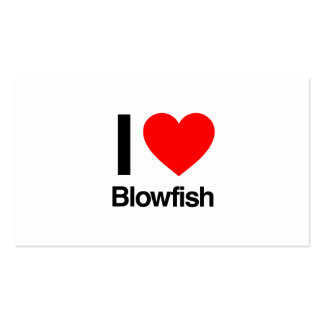 i love blowfish business card template