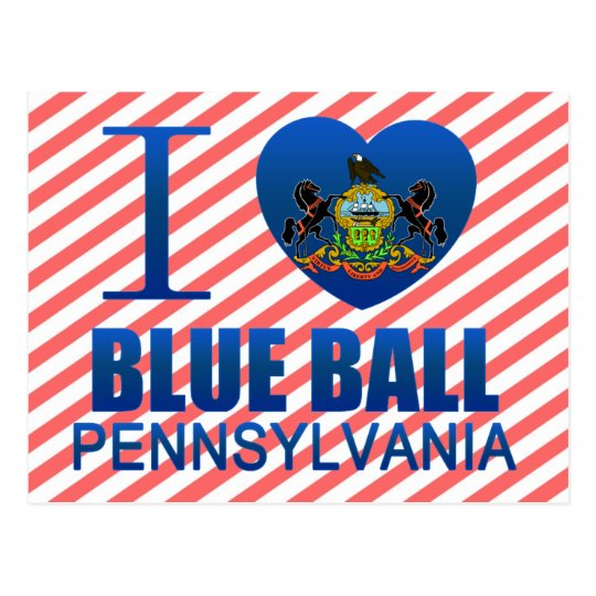 I Love Blue Ball, PA Postcard