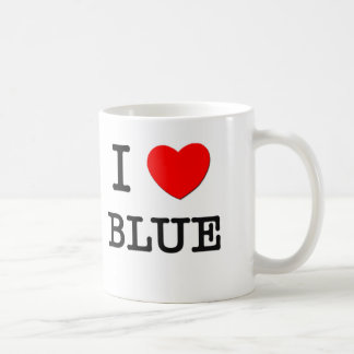 I Love Blue Basic White Mug