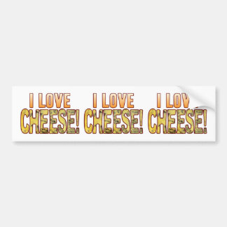 I Love Blue Cheese Bumper Sticker