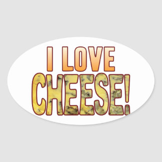 I Love Blue Cheese Oval Sticker
