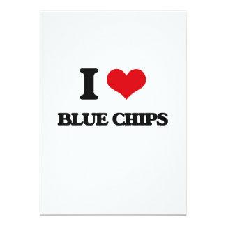 I Love Blue Chips 13 Cm X 18 Cm Invitation Card