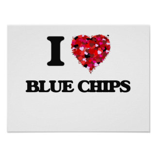 I Love Blue Chips Poster