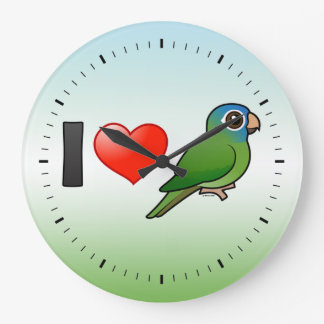 I Love Blue-crowned Conures Wallclock