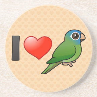 I Love Blue-crowned Conures Coasters