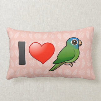 I Love Blue-crowned Conures Throw Pillow