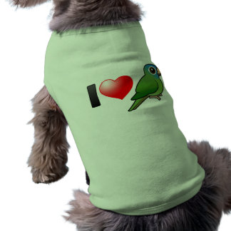 I Love Blue-crowned Conures Doggie Tee