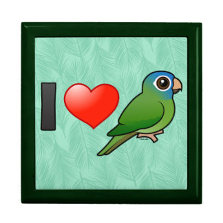 I Love Blue-crowned Conures Trinket Boxes