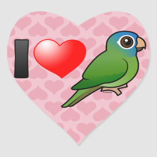 I Love Blue-crowned Conures Heart Sticker