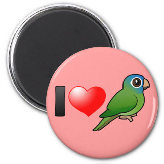 I Love Blue-crowned Conures 6 Cm Round Magnet