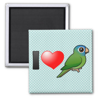 I Love Blue-crowned Conures Square Magnet