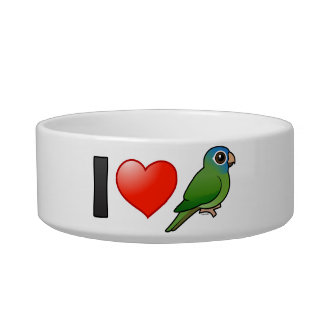 I Love Blue-crowned Conures Cat Food Bowl