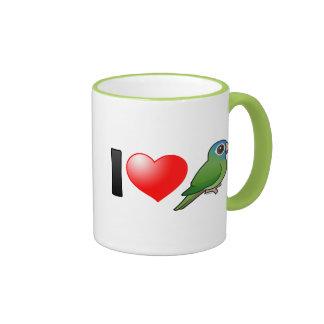 I Love Blue-crowned Conures Ringer Mug