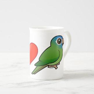 I Love Blue-crowned Conures Porcelain Mug