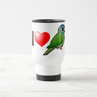 I Love Blue-crowned Conures Stainless Steel Travel Mug