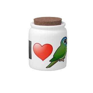 I Love Blue-crowned Conures Candy Jar