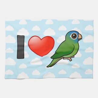 I Love Blue-crowned Conures Hand Towel