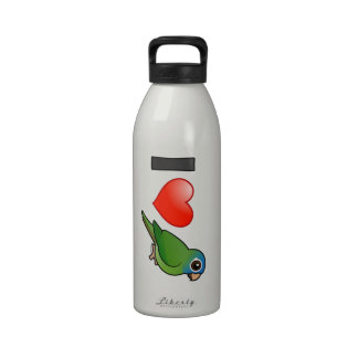 I Love Blue-crowned Conures Reusable Water Bottle
