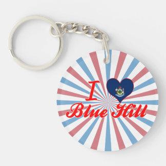 I Love Blue Hill Maine Key Chain