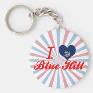 I Love Blue Hill Maine Keychain