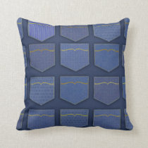 I Love Blue Jeans Cushion