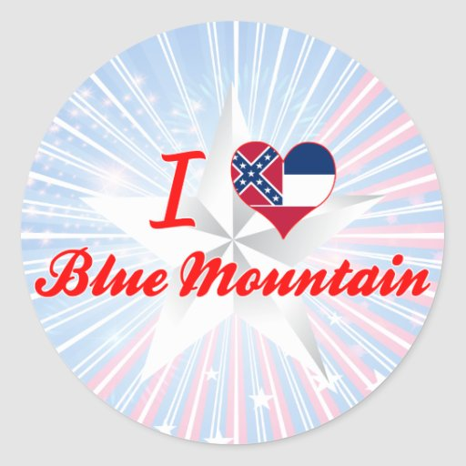 I Love Blue Mountain, Mississippi Stickers