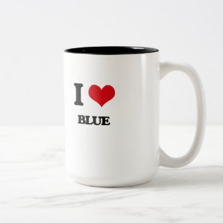I Love Blue Mugs