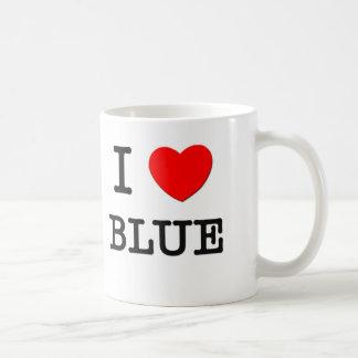 I Love Blue Classic White Coffee Mug