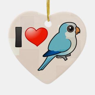 I Love Blue Quakers Christmas Ornament