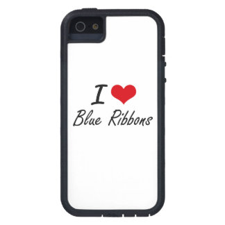 I Love Blue Ribbons Artistic Design Case For The iPhone 5