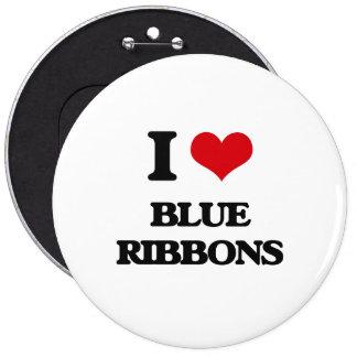 I Love Blue Ribbons 6 Cm Round Badge
